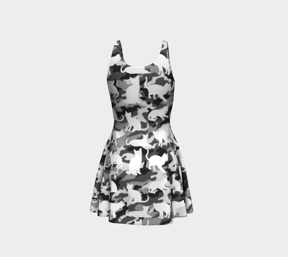 Aperçu de Black and White Arctic Snow Cat Catmouflage Camouflage #3
