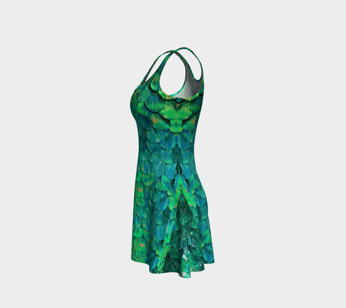 Mermaid Large-Scale Green Flare Dress  preview #2