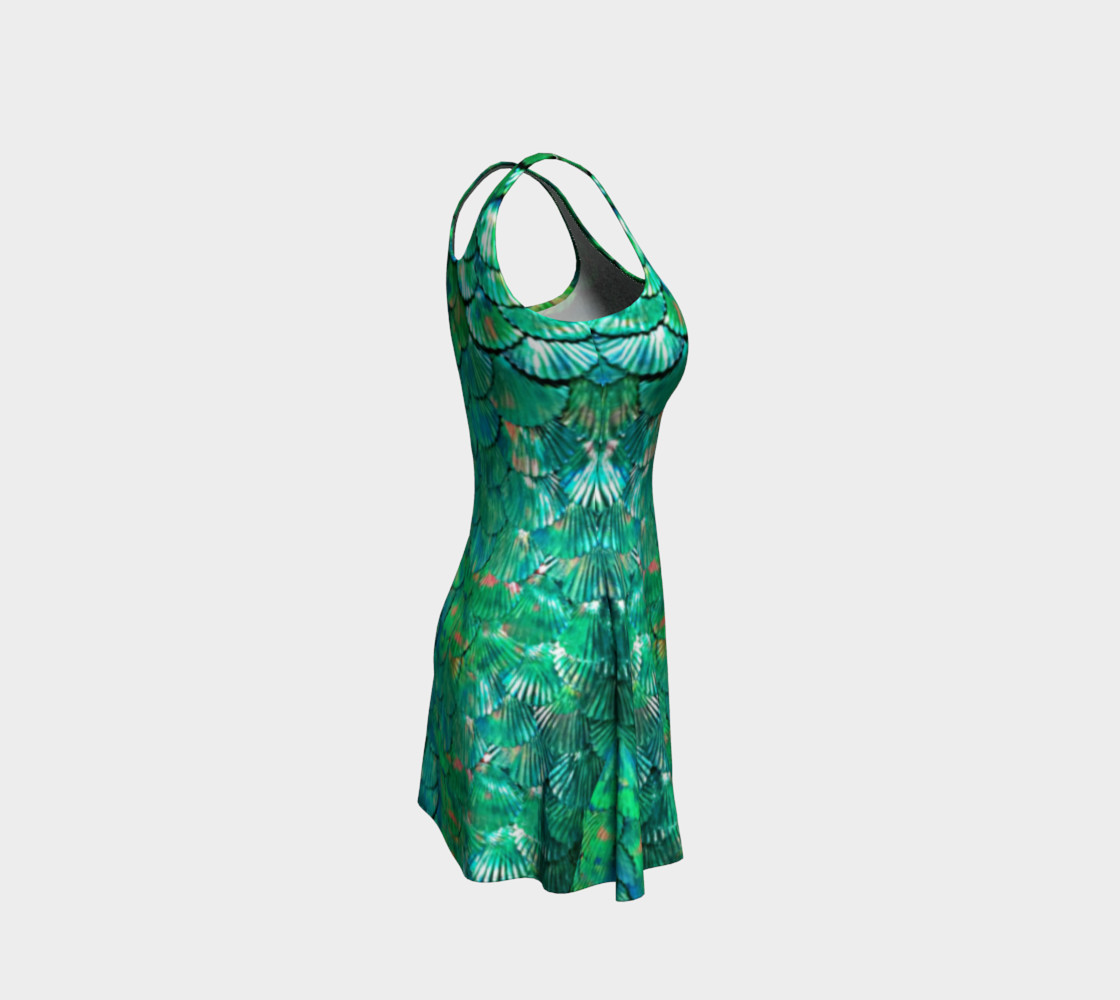 Mermaid Large-Scale Green Flare Dress  preview #4
