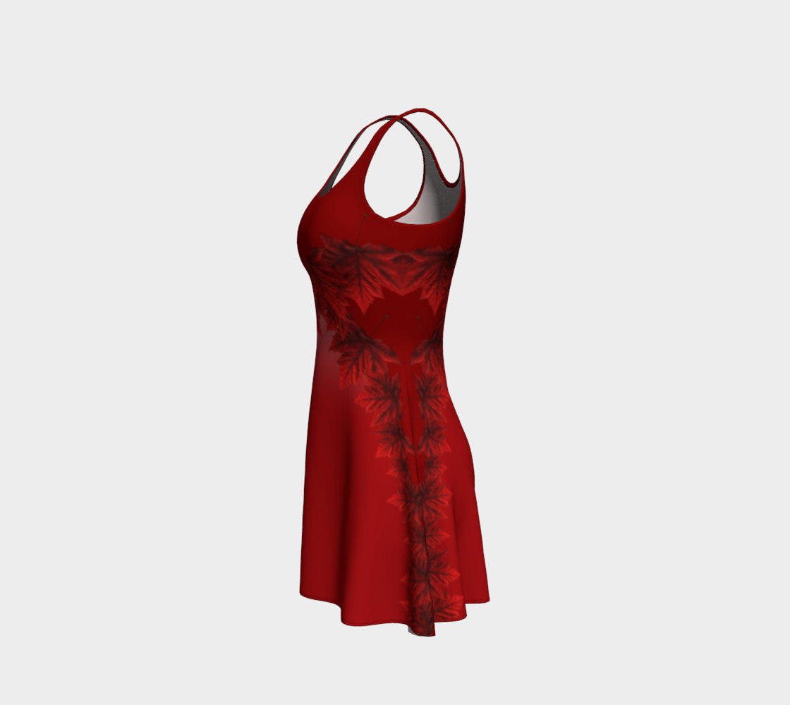 Autumn Leaves Dress Flared Canada Maple Leaf Dresses preview #2