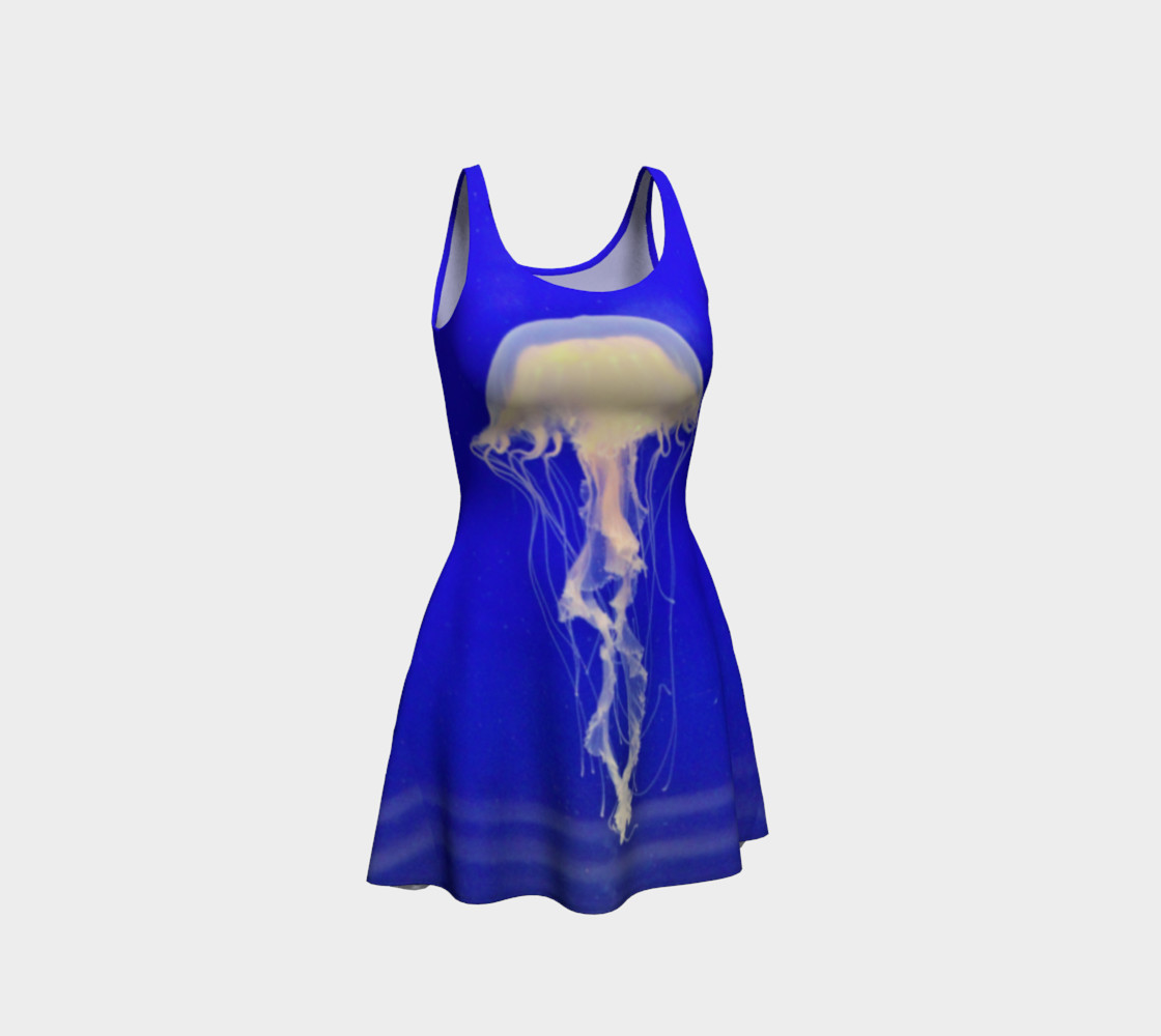Jelly Black Light Reactive  Blue Flare Dress preview #1