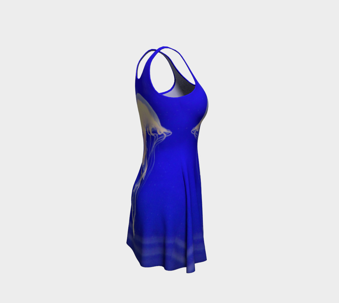 Jelly Black Light Reactive  Blue Flare Dress preview #4