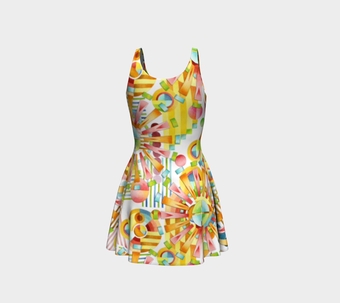 Aperçu de Art Deco Party Flare Dress #3