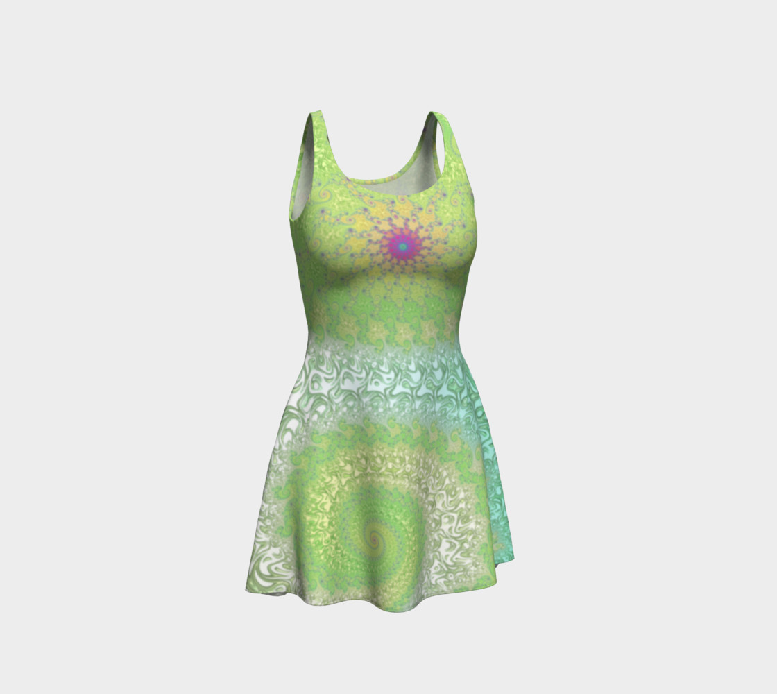 Springtime Garden Flare Dress Miniature #2