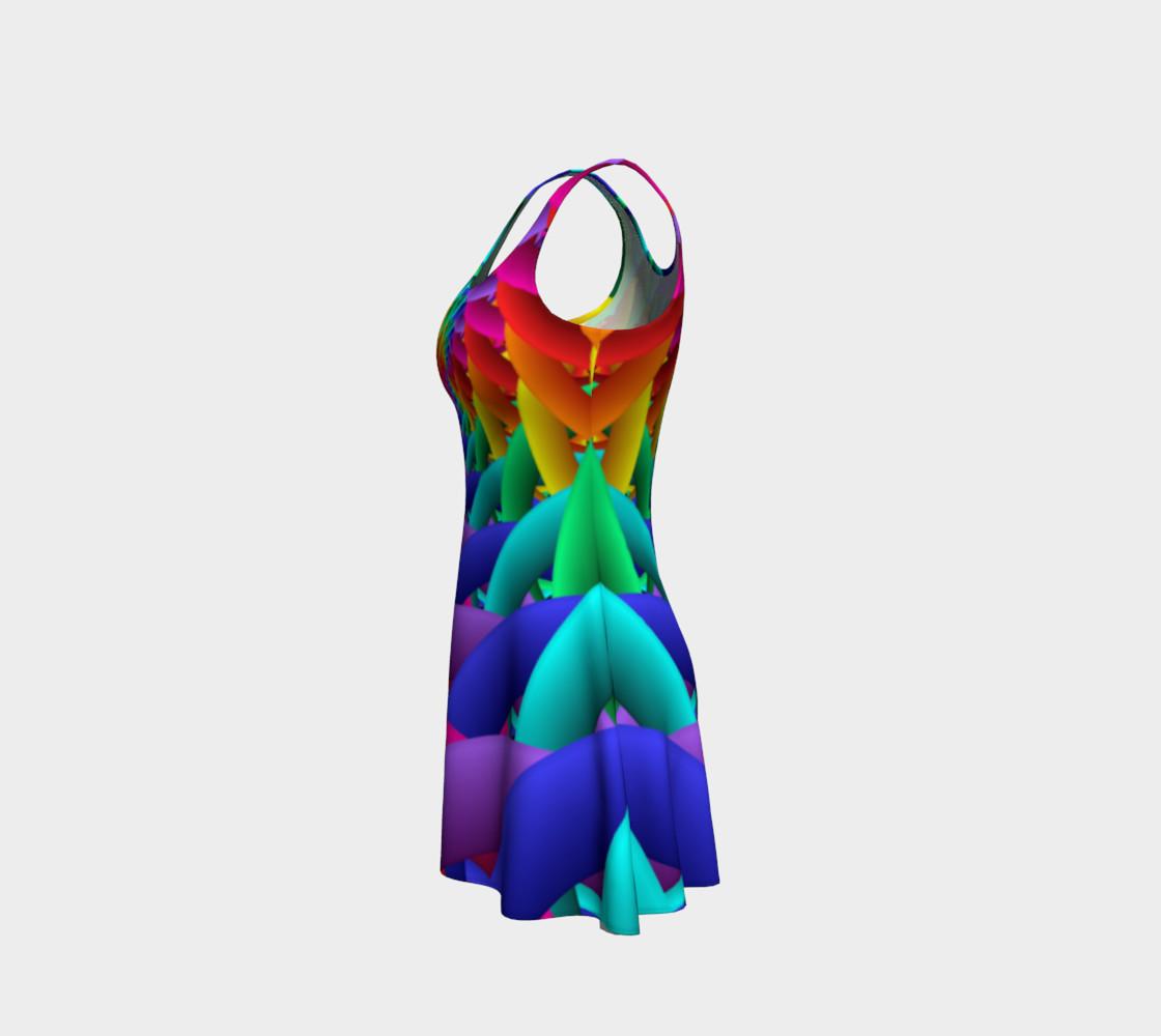 Aperçu de Psychedelic Rainbow Spiral Flare Dress #2