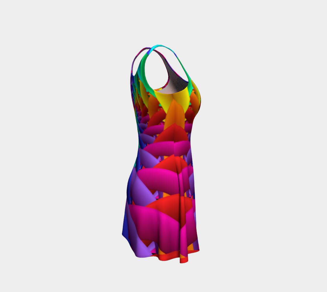 Aperçu de Psychedelic Rainbow Spiral Flare Dress #4