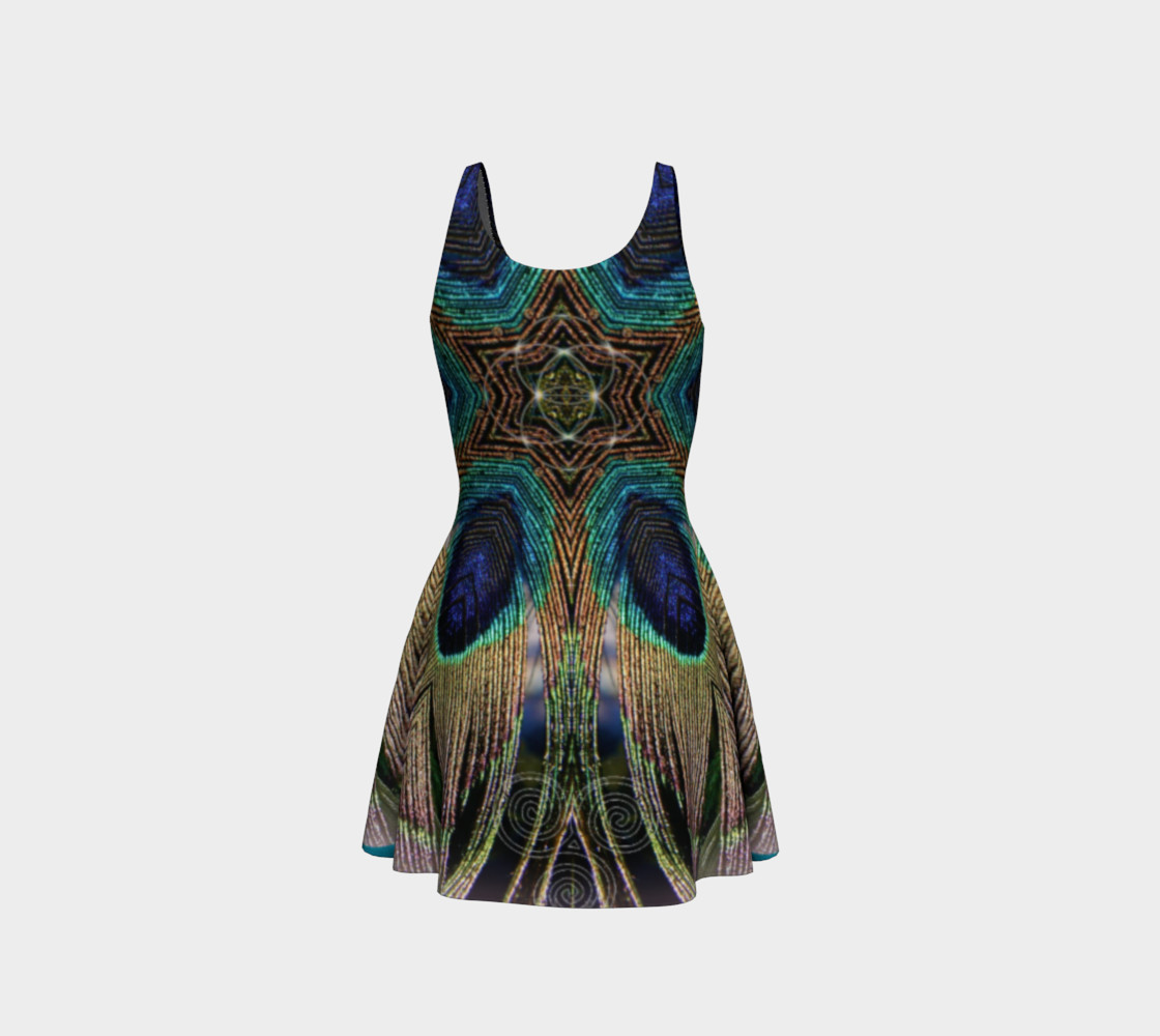 Peacock Power Flare Dress 2 preview #3