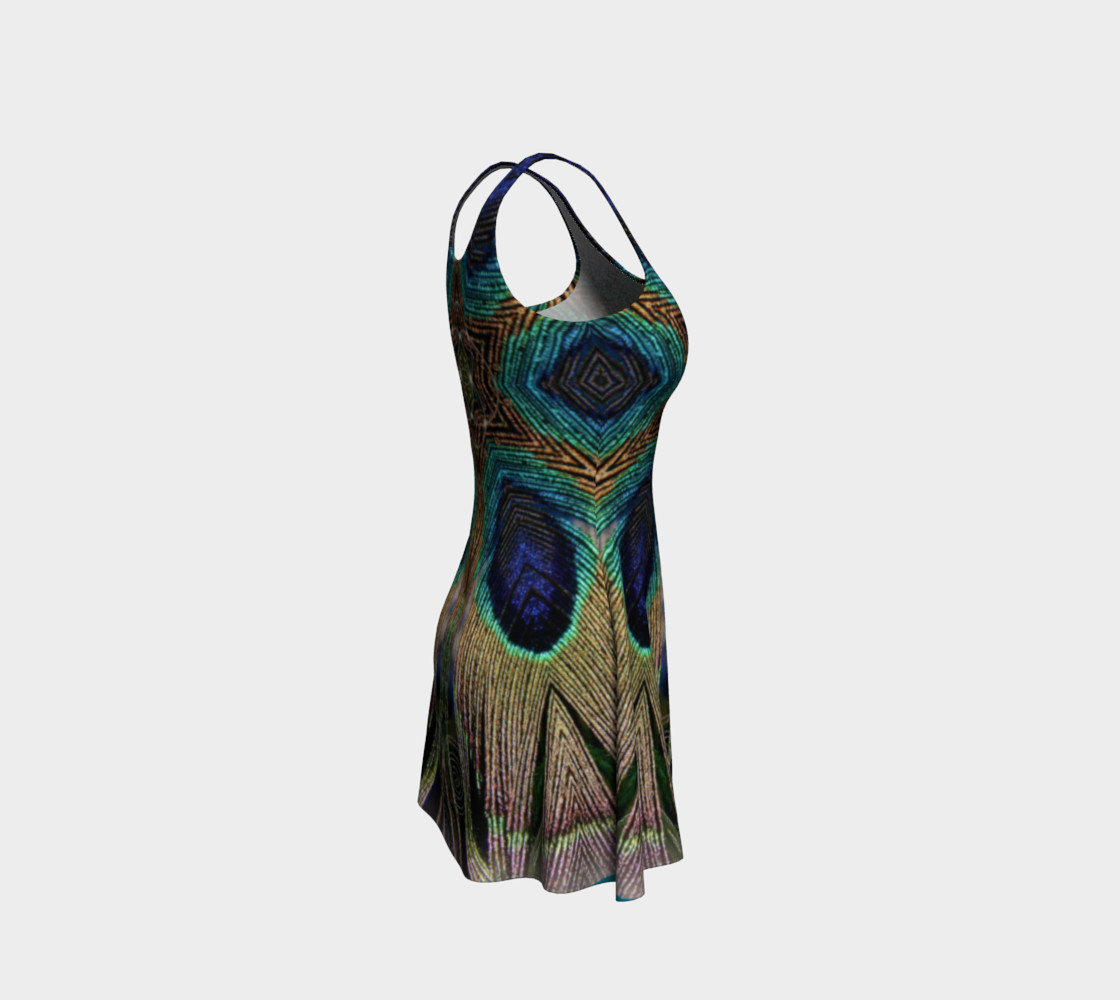Peacock Power Flare Dress 2 preview #4