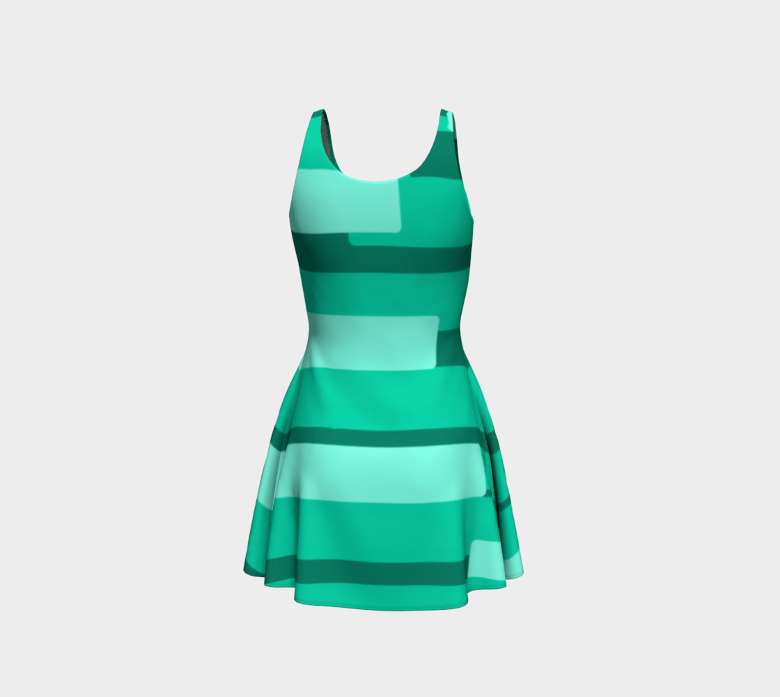 Teal Ocean Flare Dress preview #3