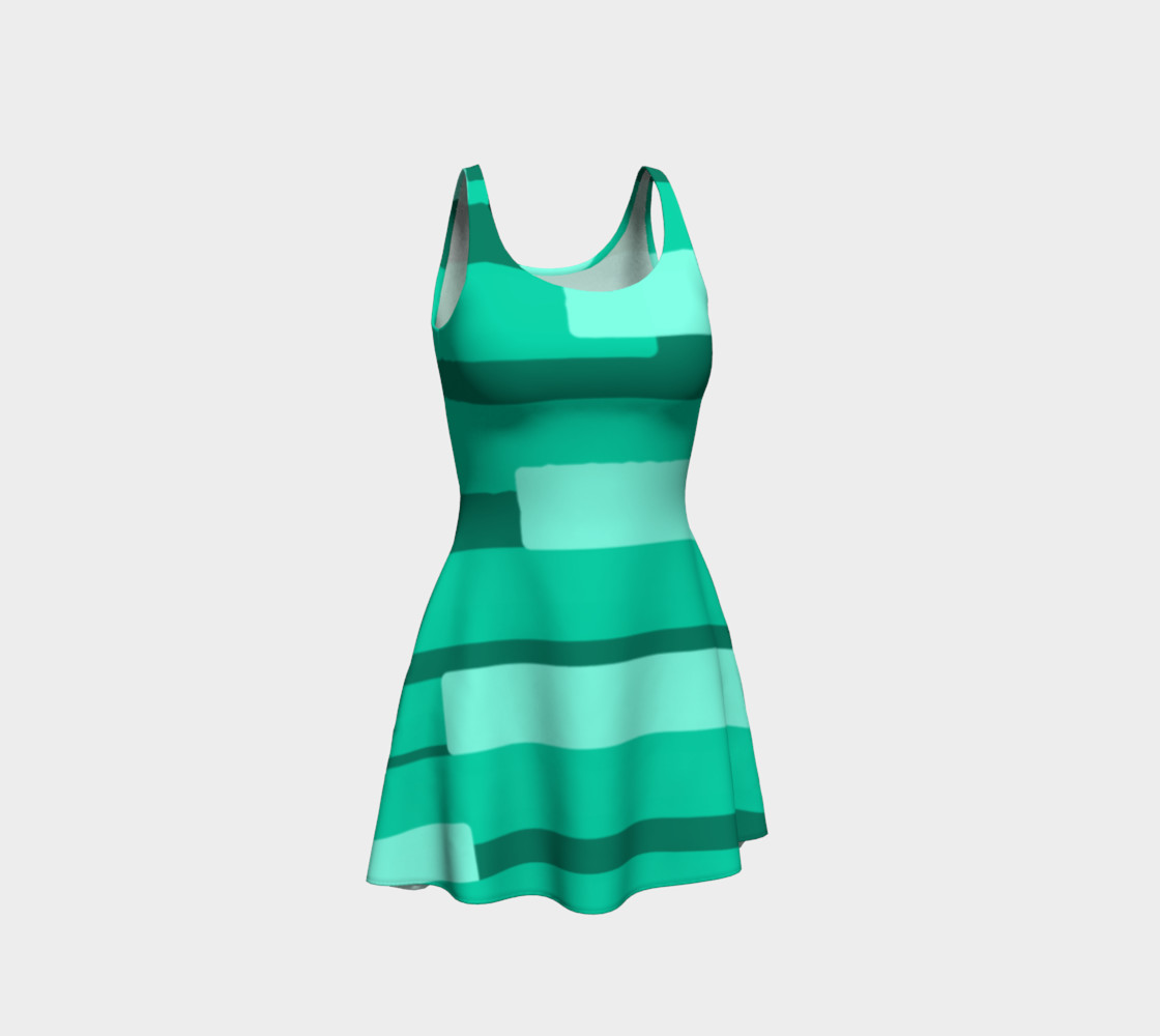 Teal Ocean Flare Dress preview #1