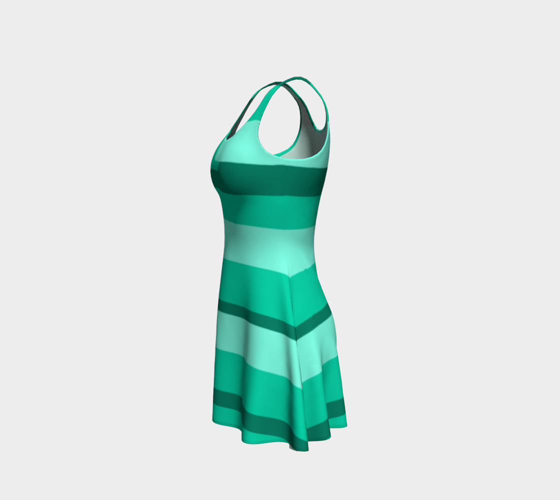Teal Ocean Flare Dress preview #2