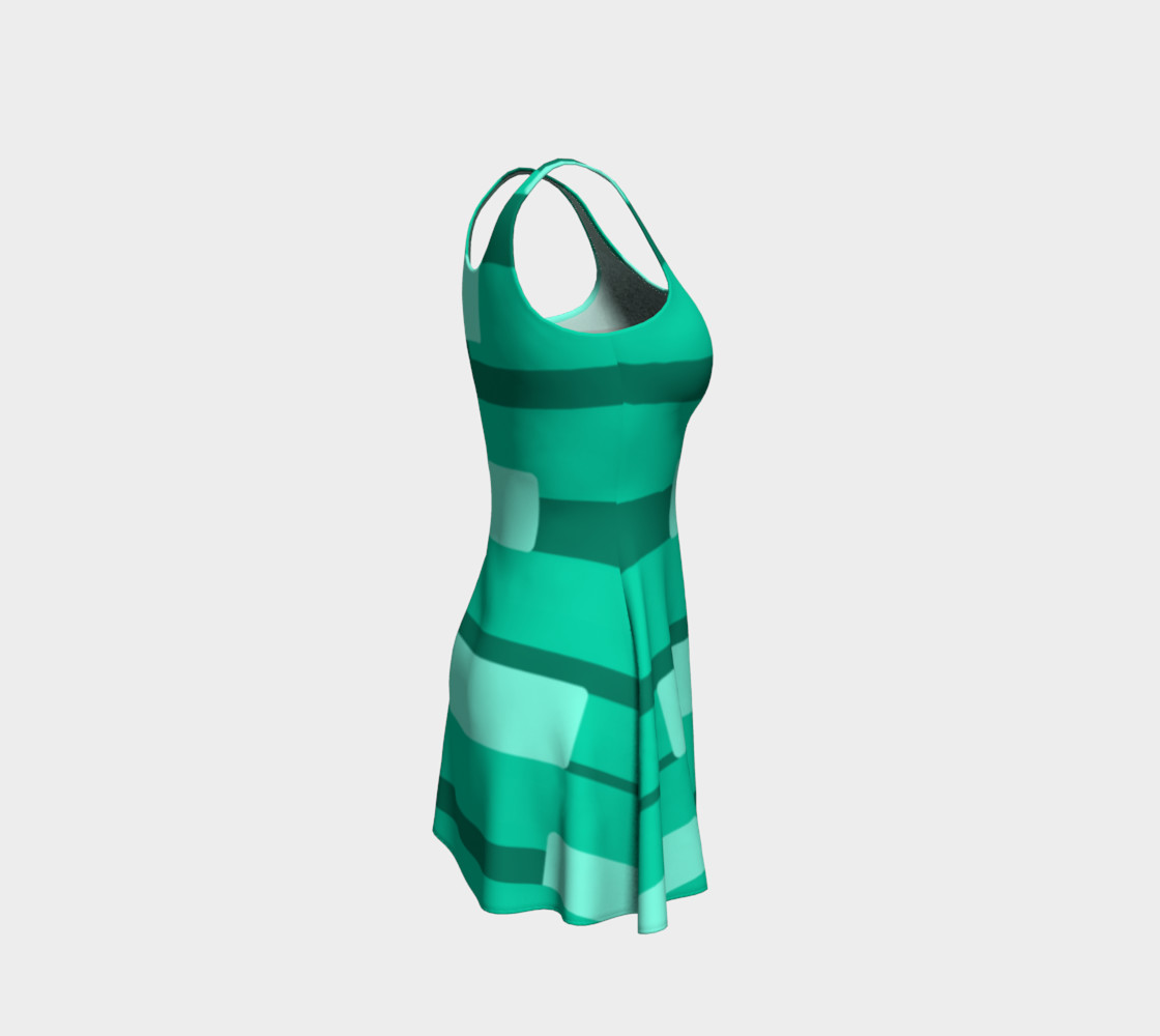 Teal Ocean Flare Dress preview #4