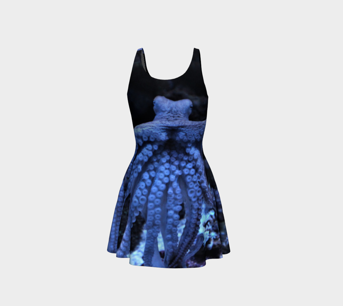 Octopus Black Light Flared Dress  preview #3