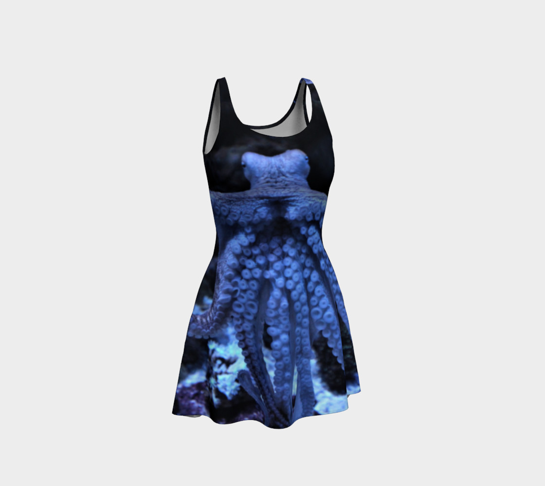 Octopus Black Light Flared Dress  preview #1