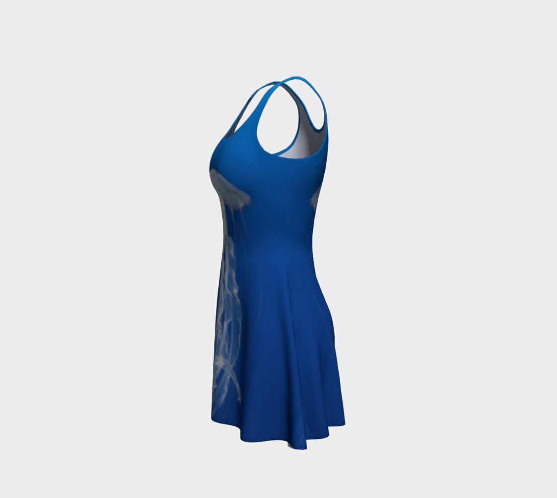Light Blue Jellyfish Accent Flared Dress preview #2