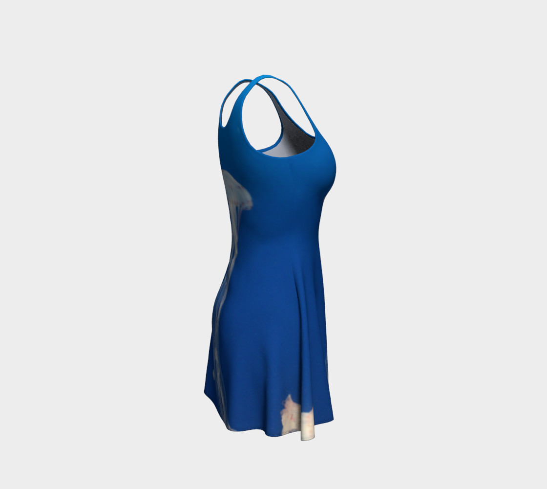 Light Blue Jellyfish Accent Flared Dress preview #4