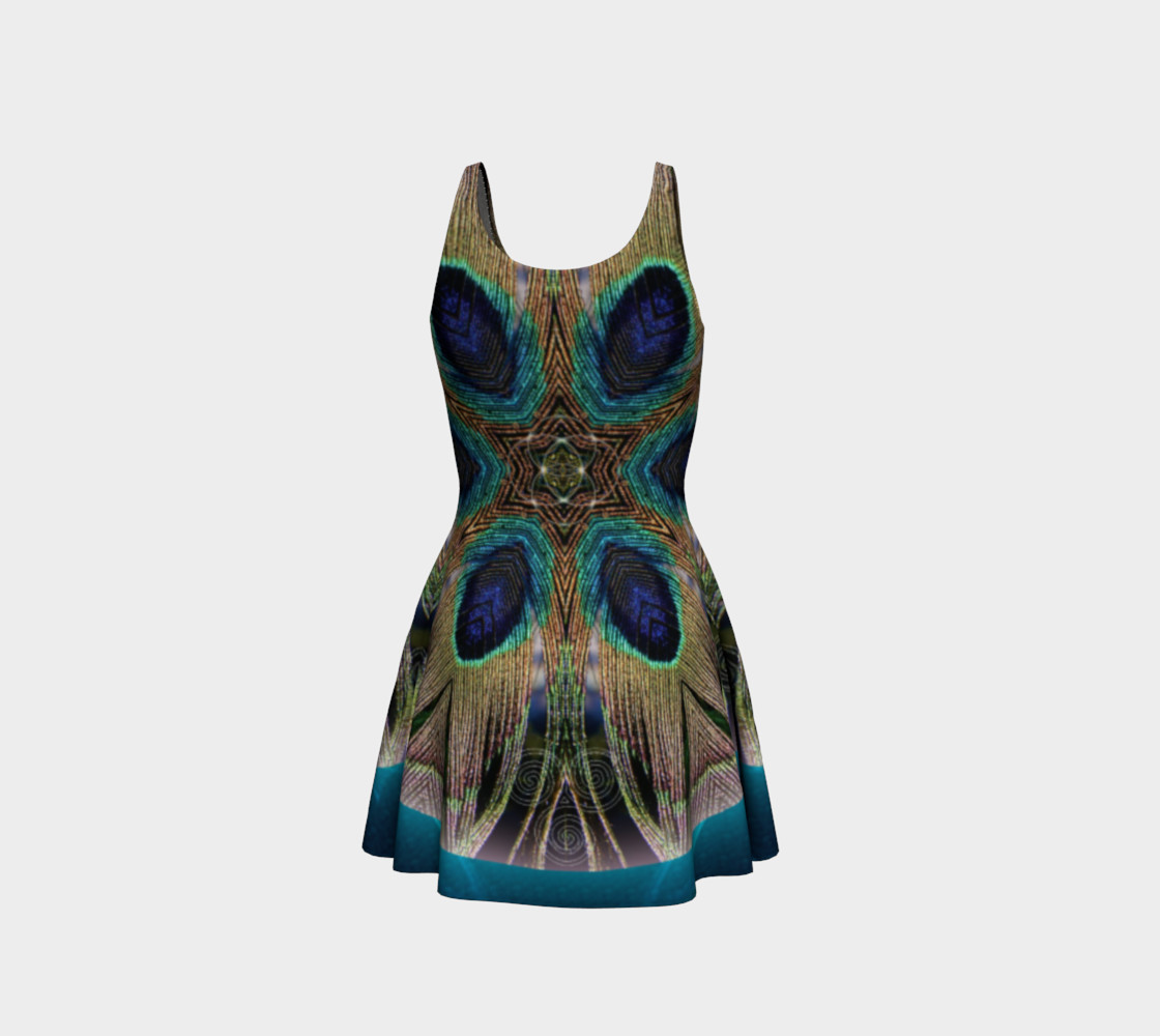 Peacock Power Flare Dress preview #3
