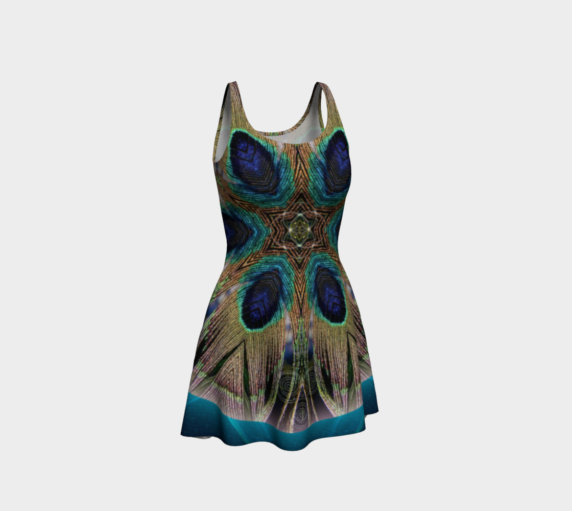 Peacock Power Flare Dress preview #1
