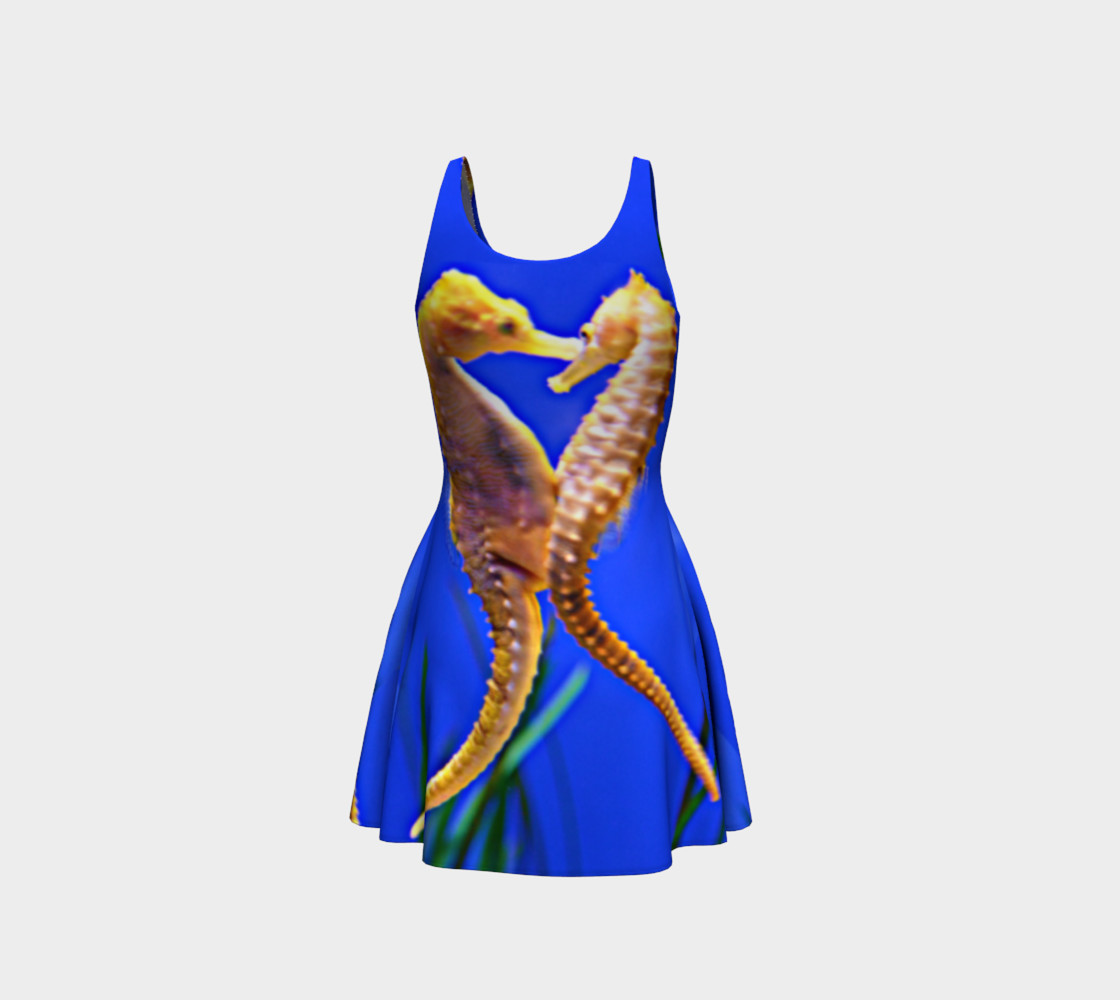 Dancing Seahorses Skater Dress  preview #3