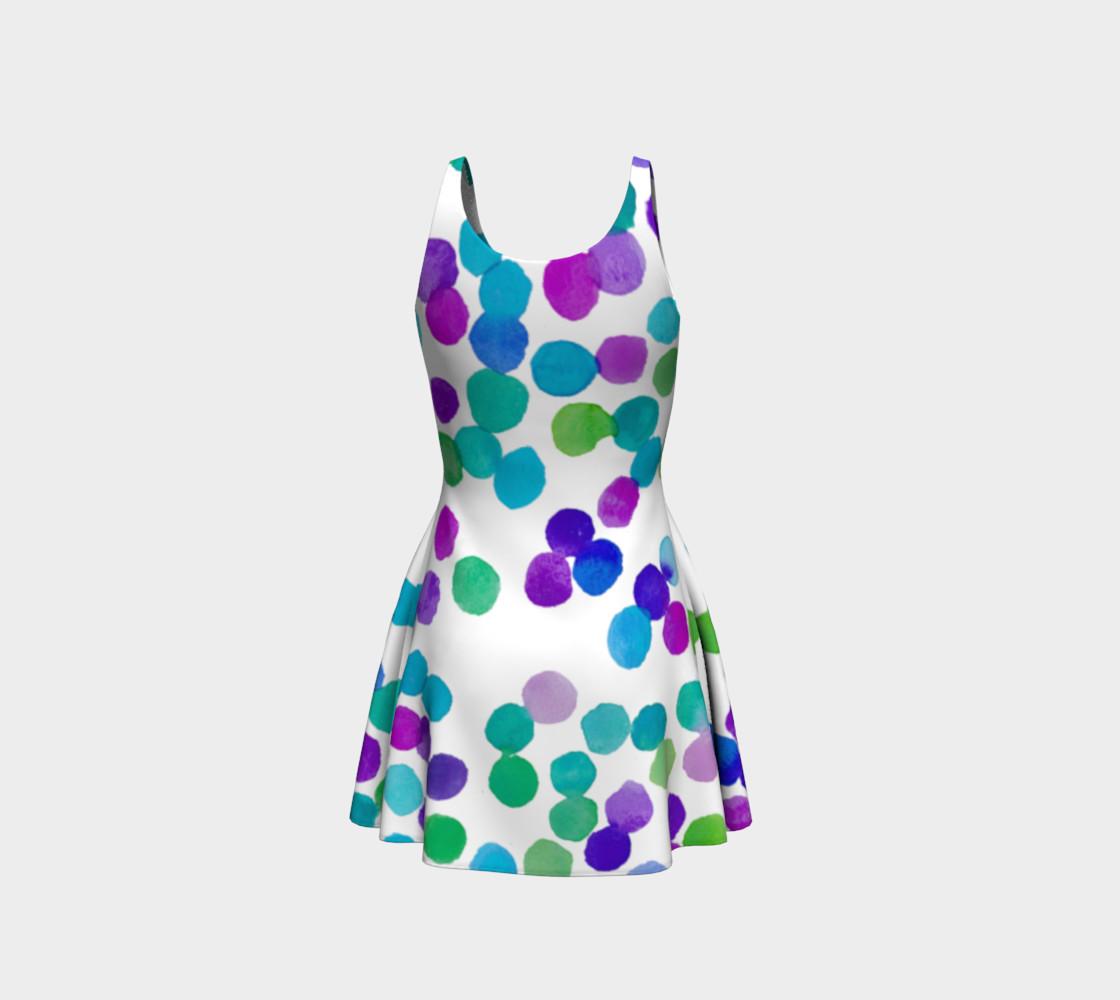 Purple Blue Watercolour Dots preview #3