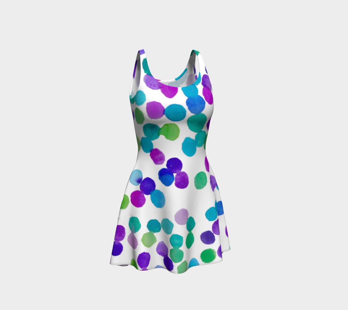 Purple Blue Watercolour Dots preview #1