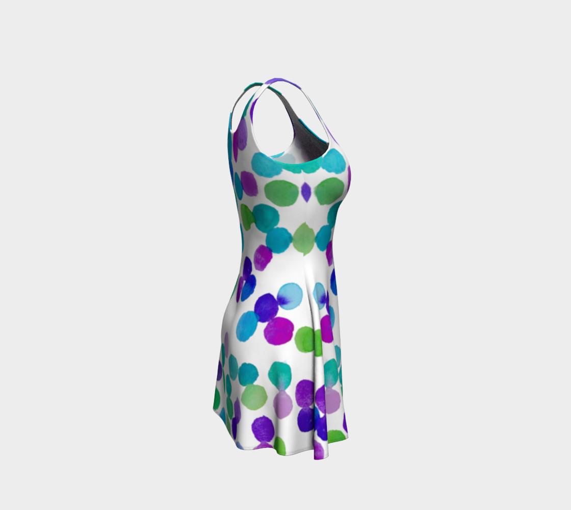 Purple Blue Watercolour Dots preview #4