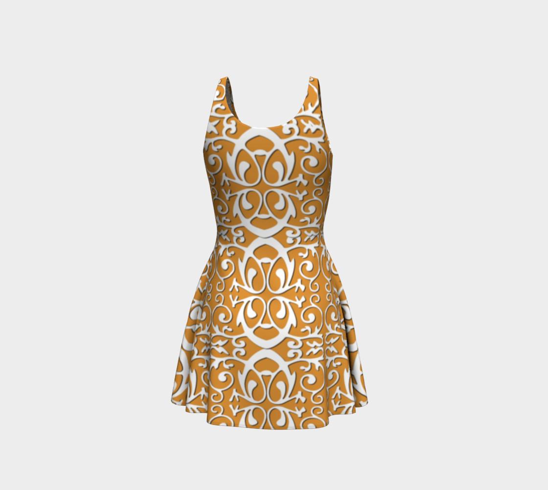 Aperçu de Trendy flare dress with origami #3