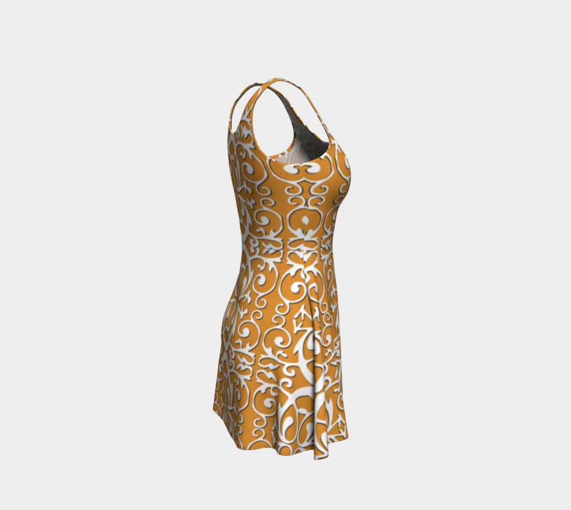 Aperçu de Trendy flare dress with origami #4
