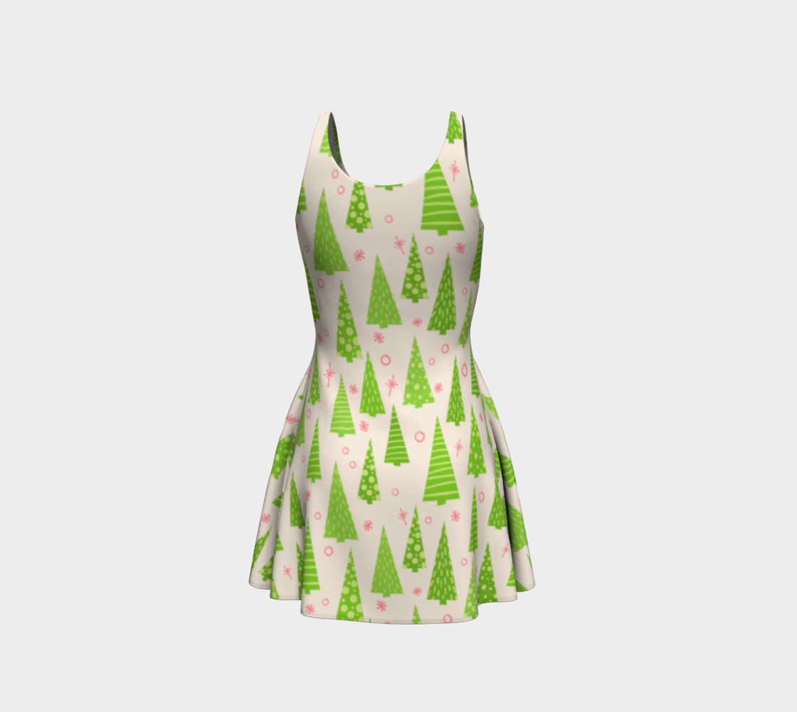 Christmas Tree Pattern Dress  preview #3