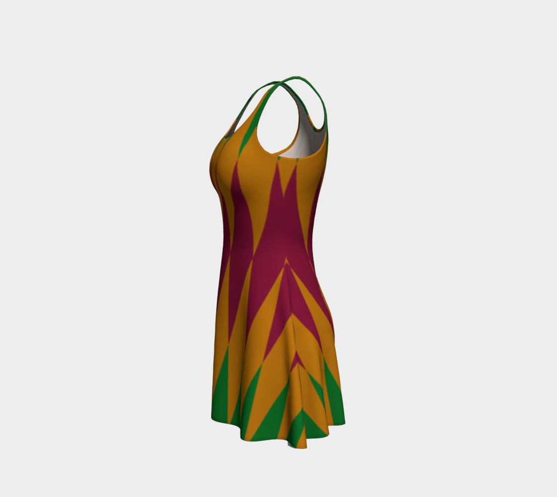Geometric African Print Flare Dress preview #2