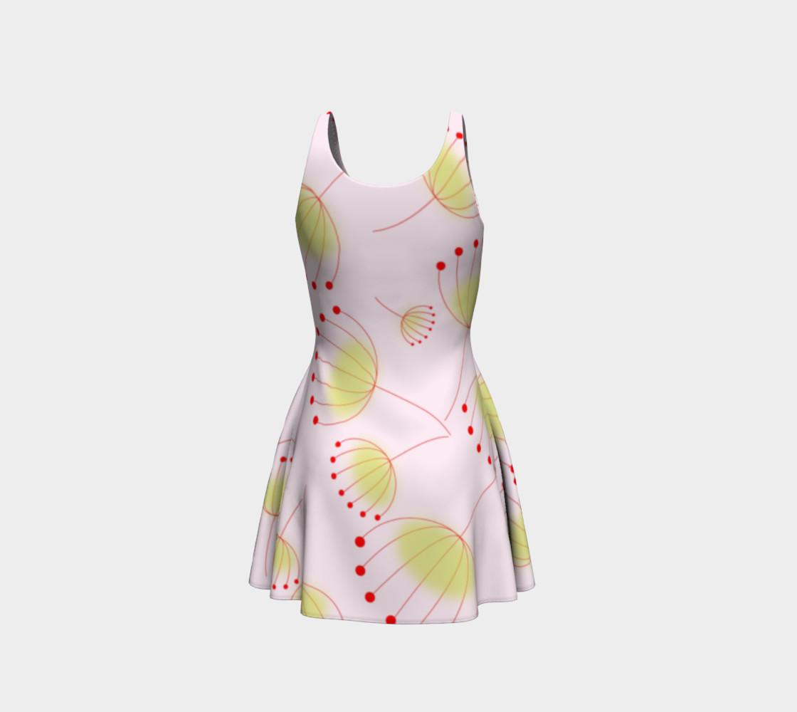Dandelion Flower Pattern Flare Dress preview #3