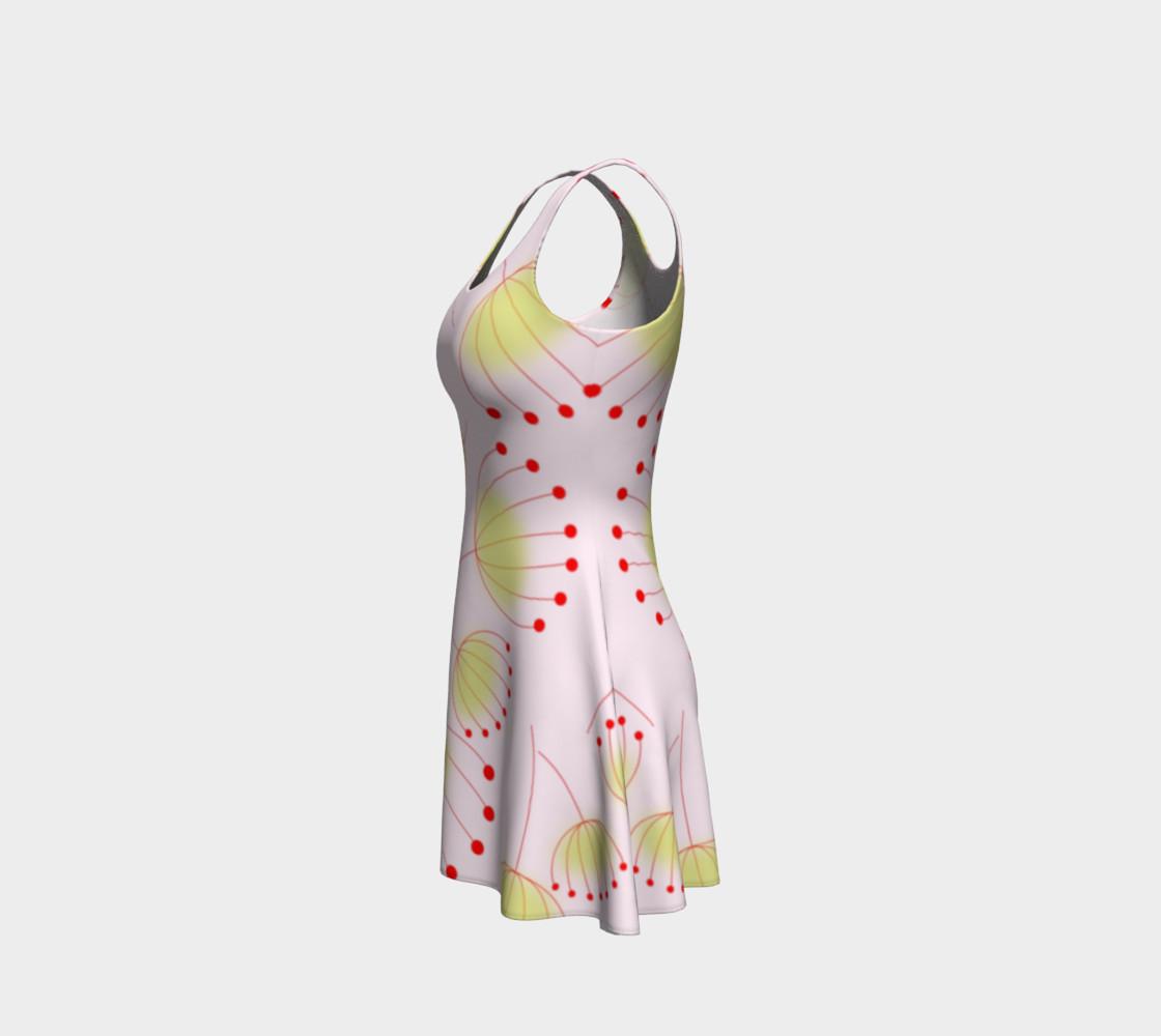 Dandelion Flower Pattern Flare Dress preview #2
