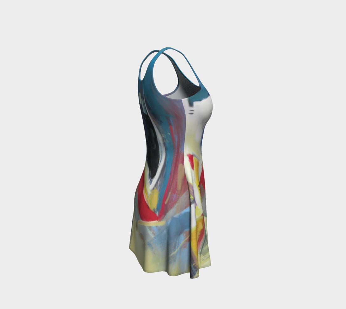 Aperçu de a single strand flare dress #4