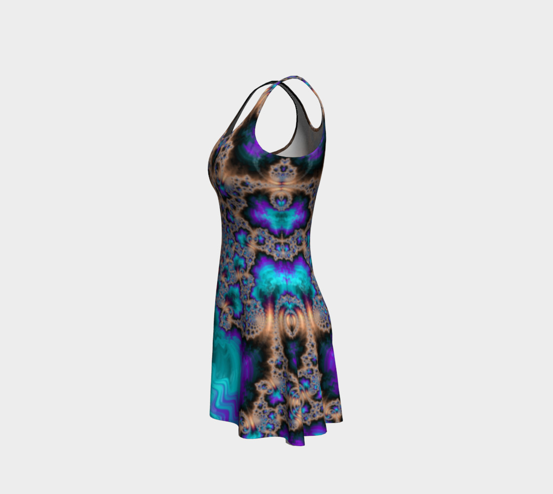 Electric Ocean Flare Dress preview #2