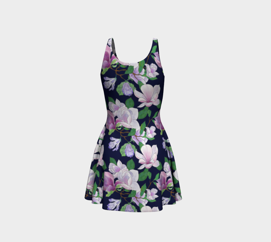 Magnolia Floral Frenzy Flare Dress preview #3