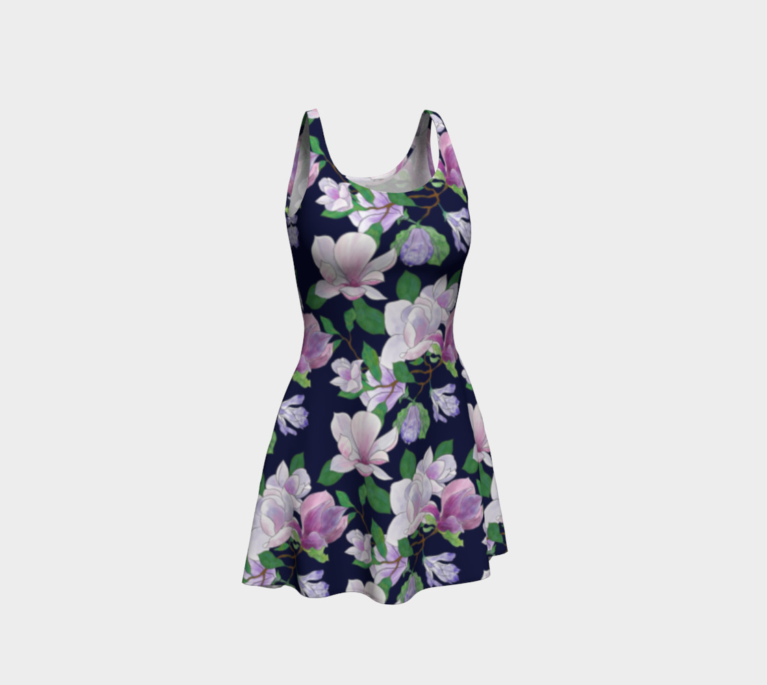 Magnolia Floral Frenzy Flare Dress preview #1
