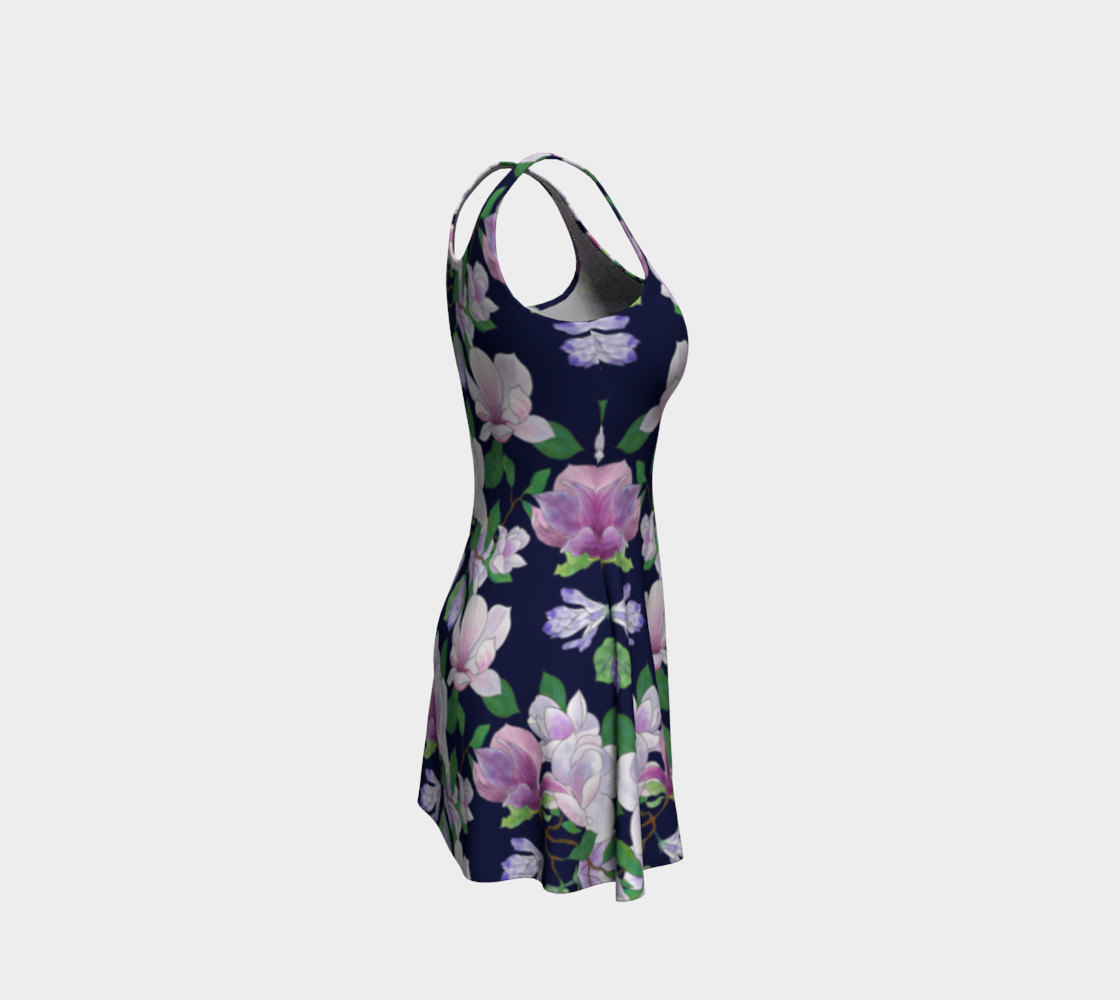 Magnolia Floral Frenzy Flare Dress preview #4