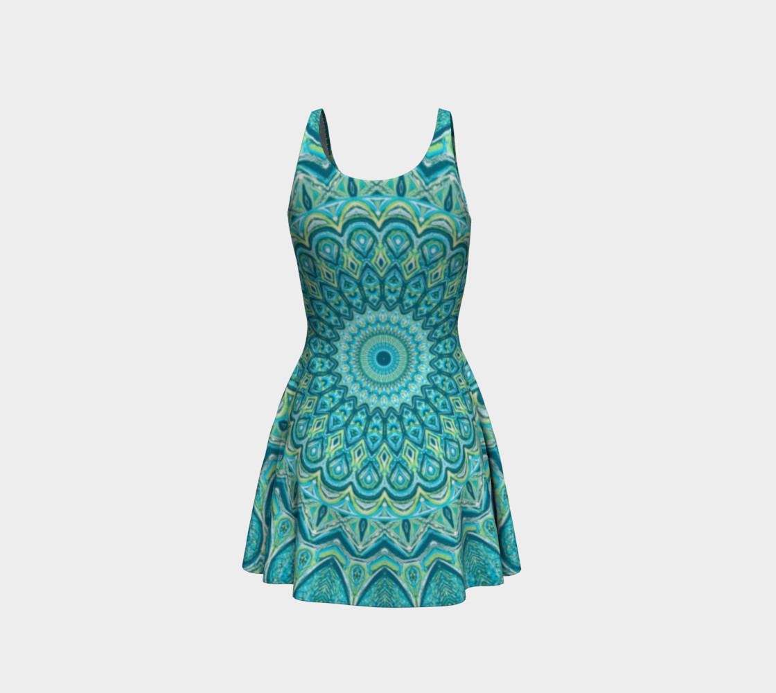 Turquoise Treat Flare Dress preview #3