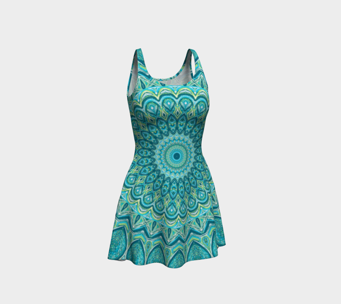 Turquoise Treat Flare Dress preview #1