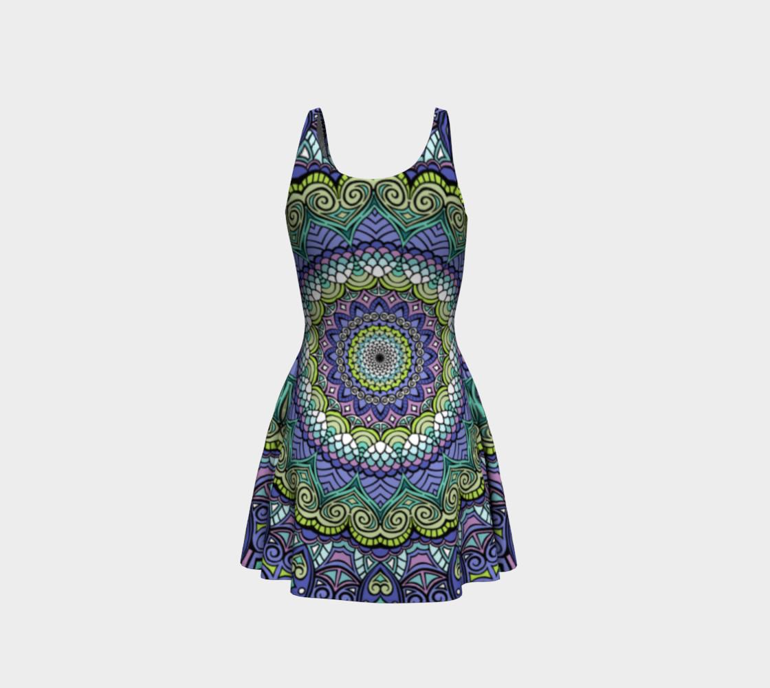 Green n' Purple Machine Flare Dress preview #3