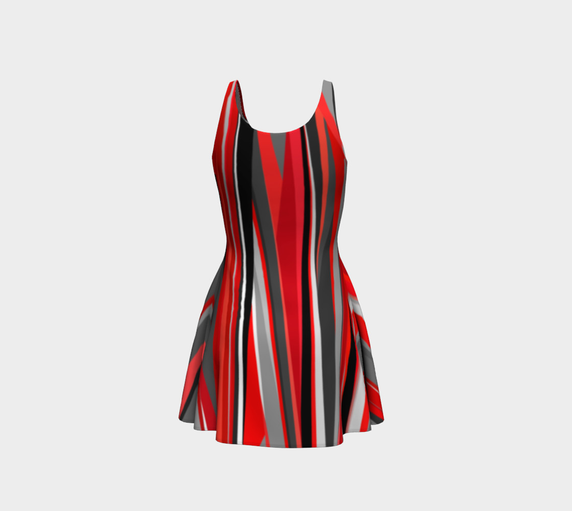 Red geometry Dress preview #3