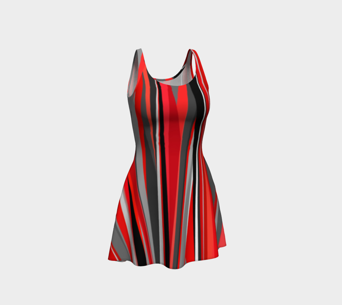 Red geometry Dress preview #1