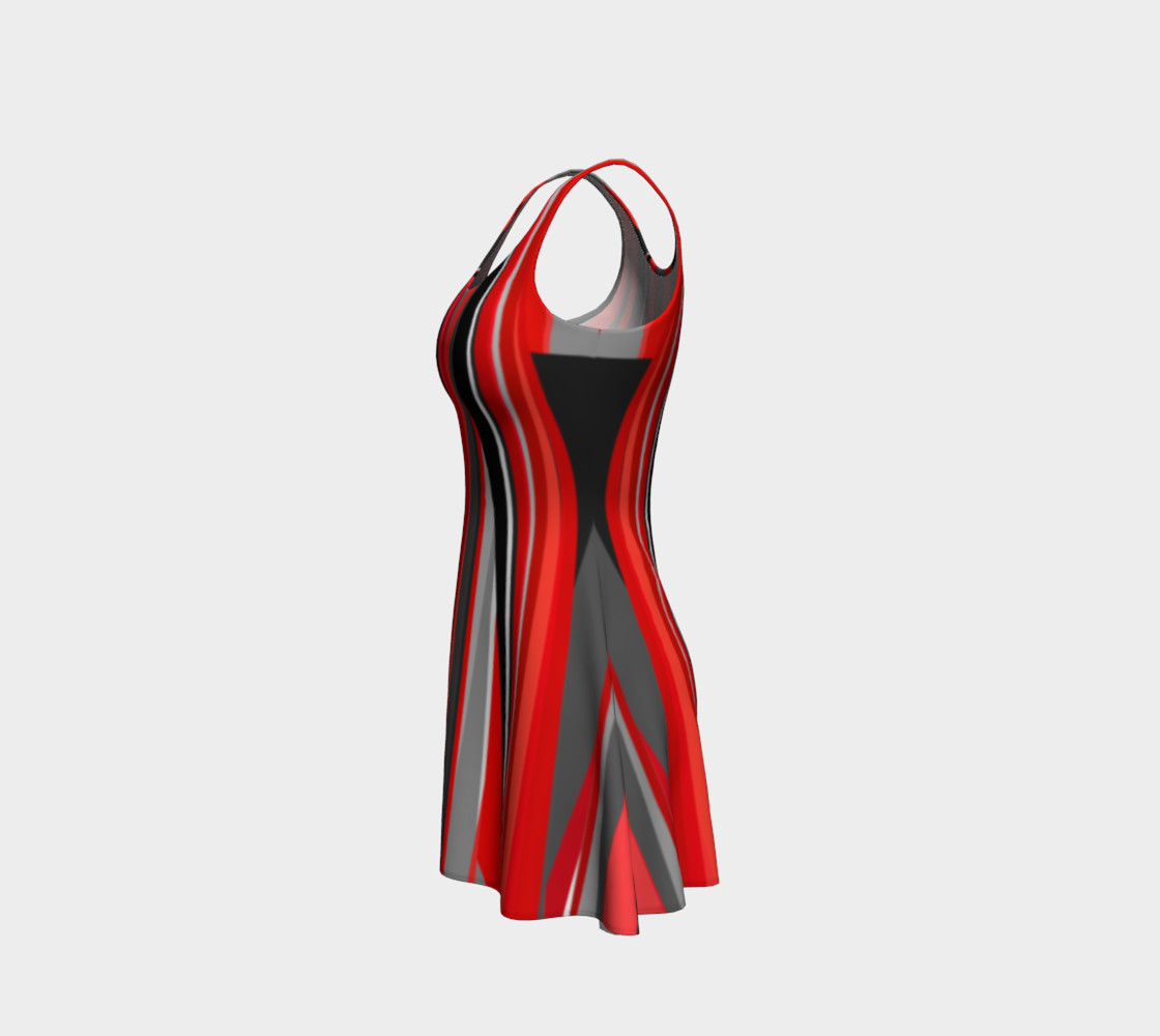 Red geometry Dress preview #2