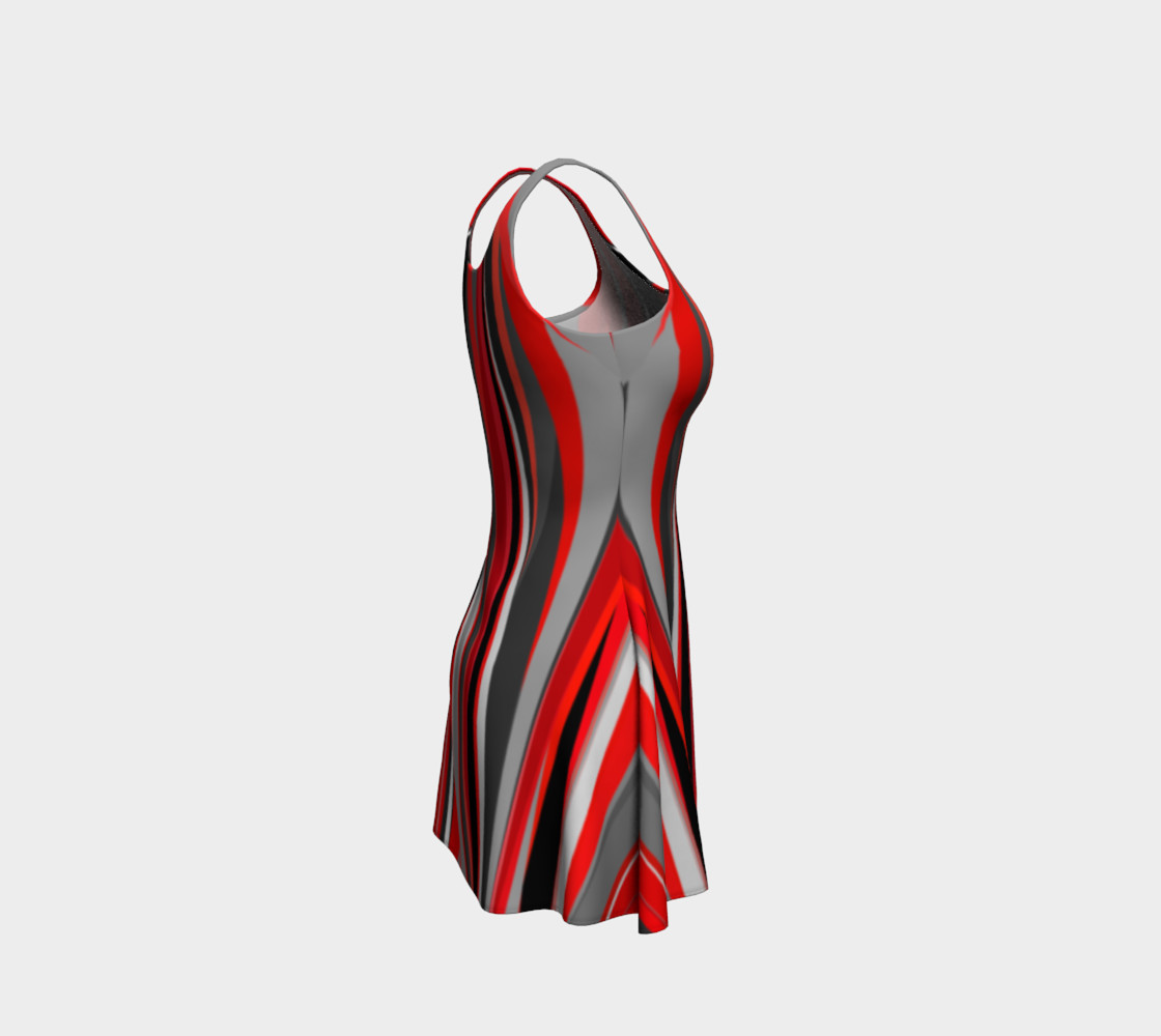 Red geometry Dress preview #4