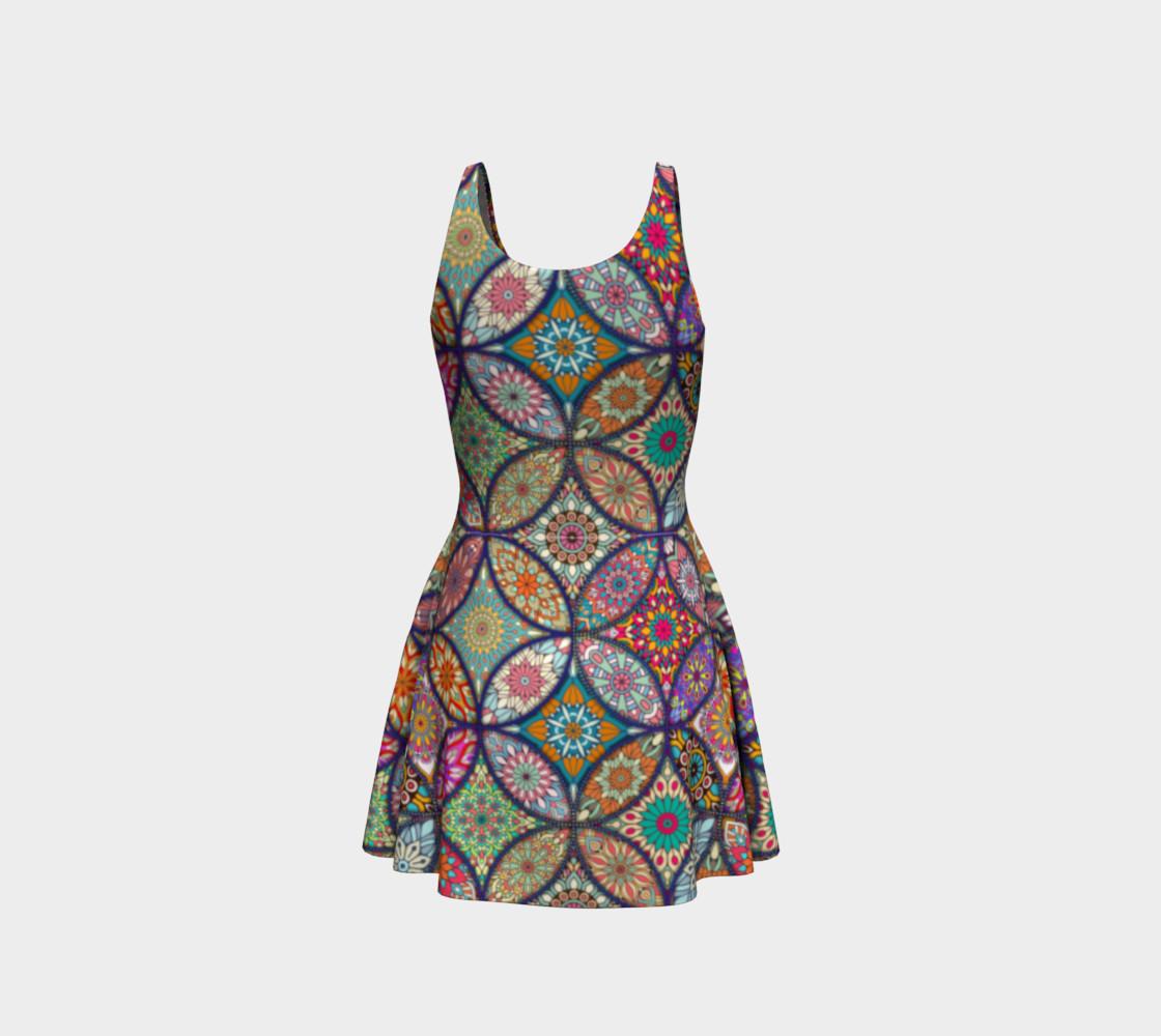 Vibrant Mandalas Flare Dress preview #3