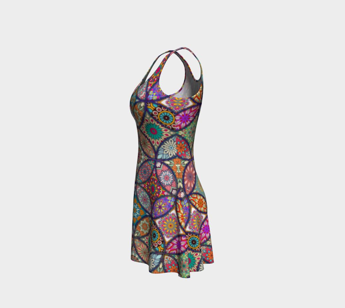 Vibrant Mandalas Flare Dress preview #2
