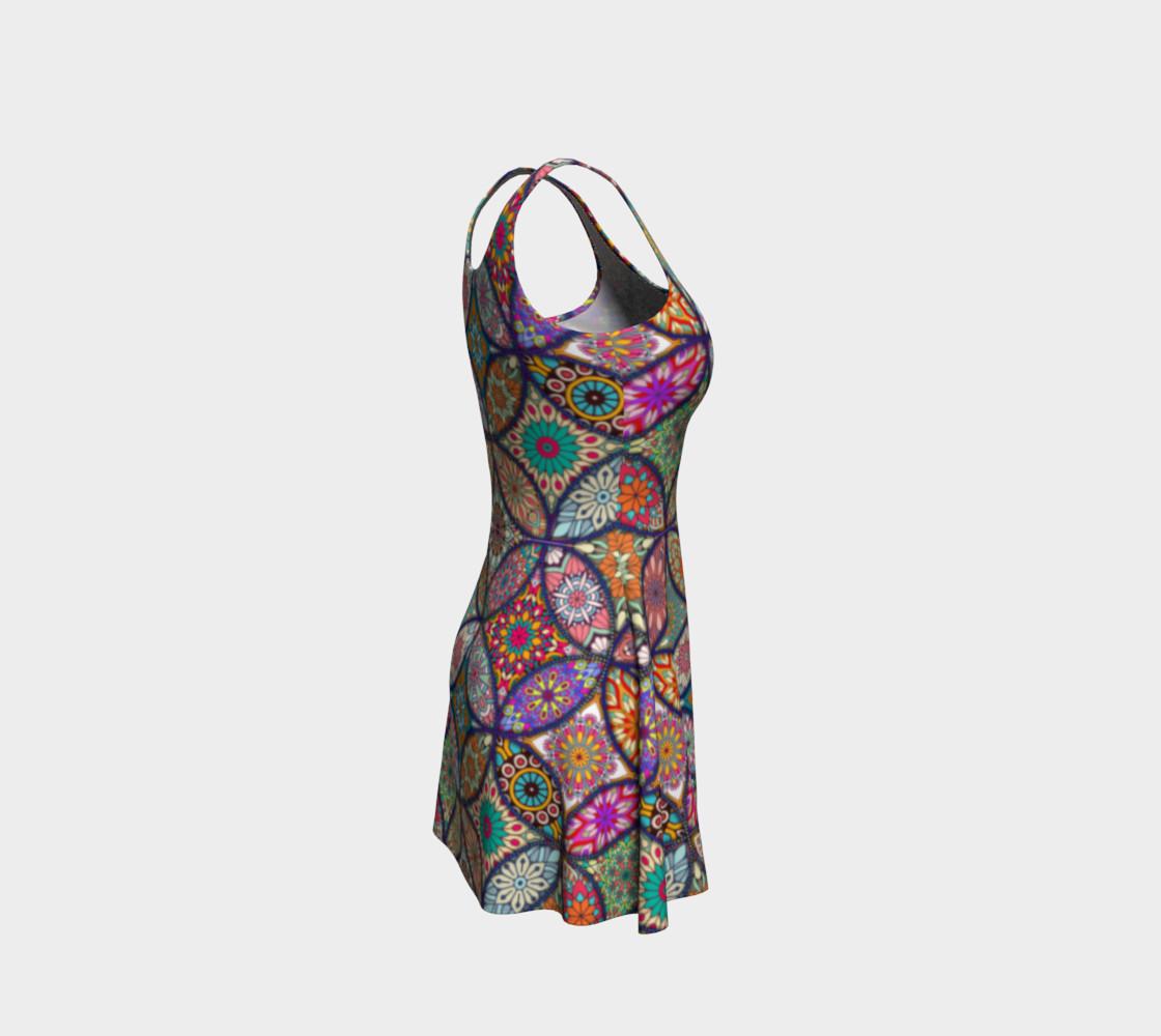 Vibrant Mandalas Flare Dress preview #4