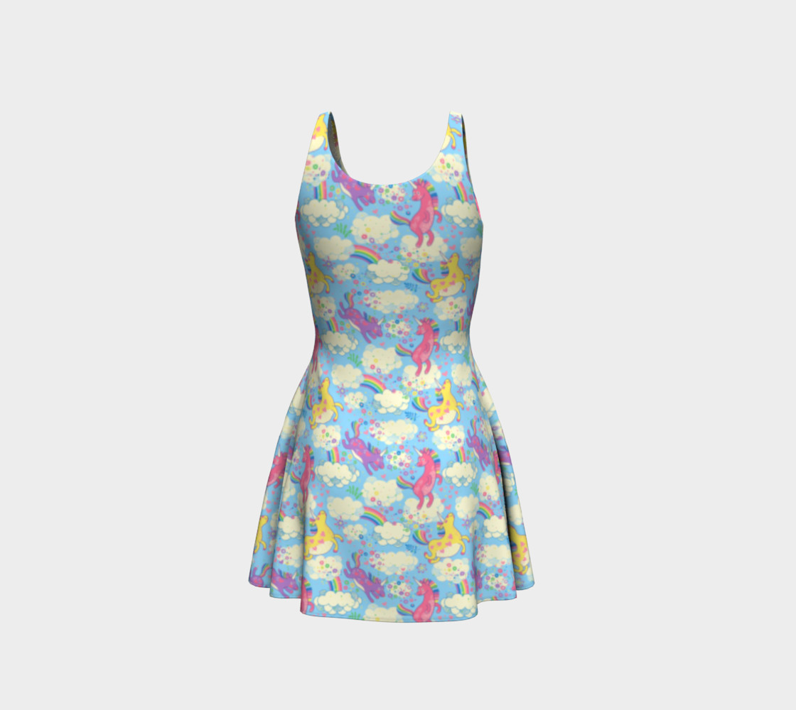 Aperçu de Happy Unicorn Flare Dress #3