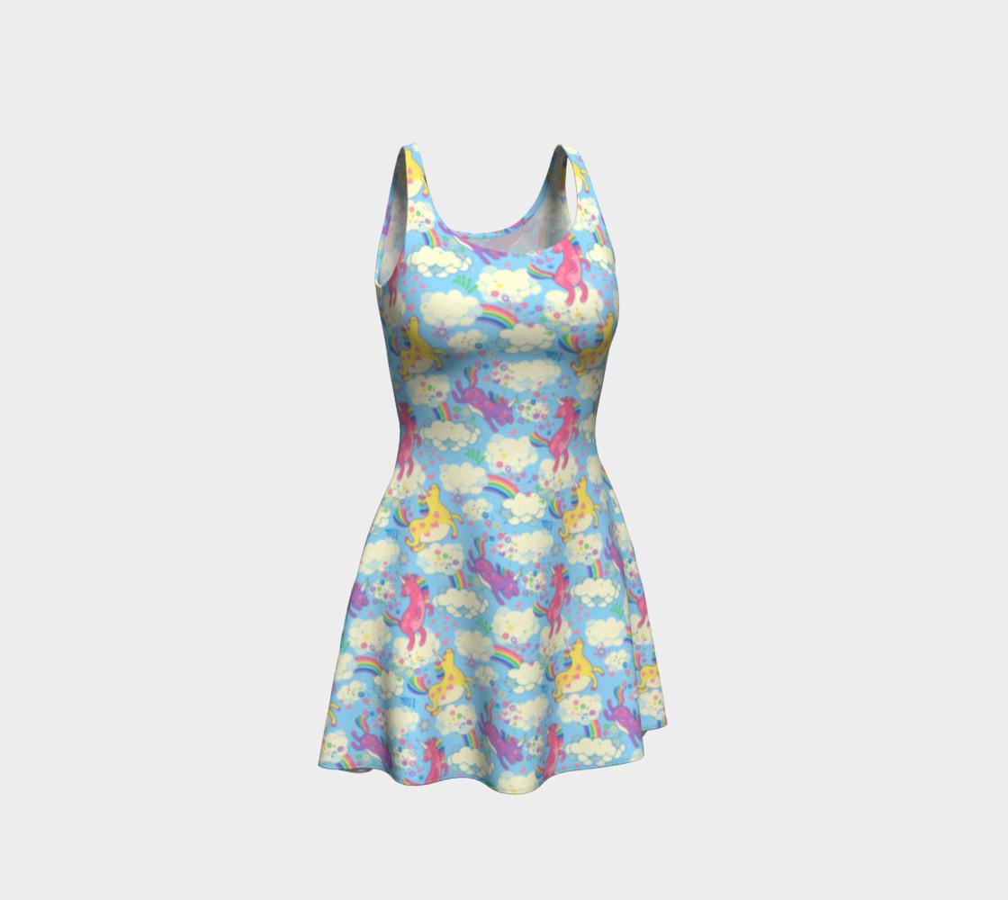Aperçu de Happy Unicorn Flare Dress #1