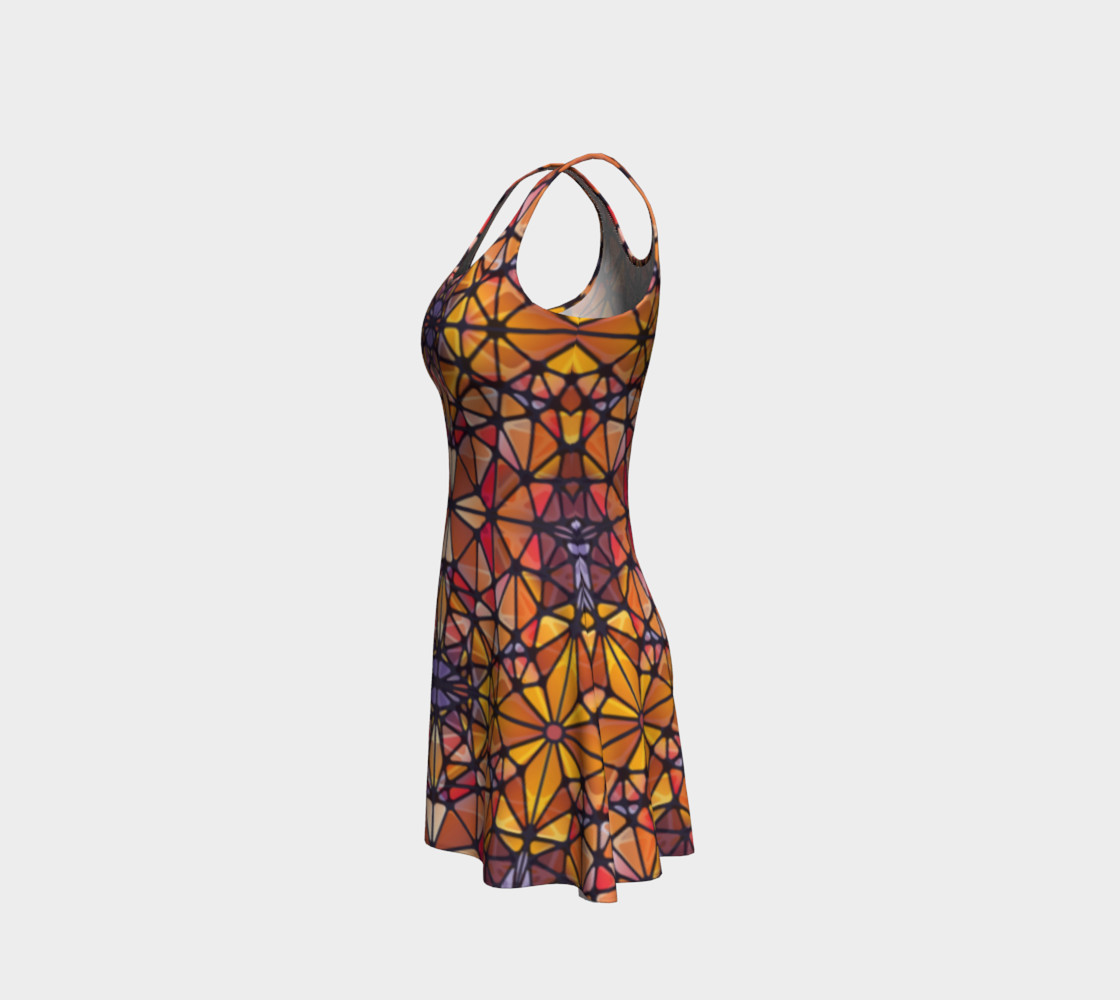Amber Kaleidoscope Flare Dress preview #2